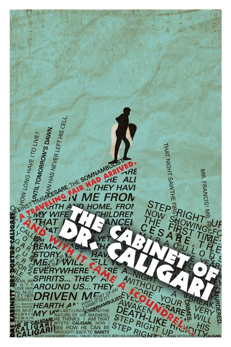 Cabinet Of Doctor Caligari Poster by Silent Film Typographic Poster Series By Andrew James