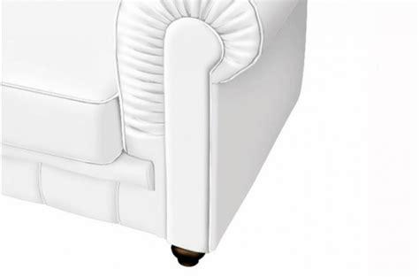 canap 233 chesterfield cuir blanc capitonn 233 3 places