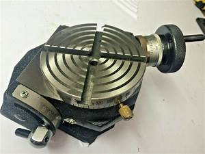 New Rotary Table 4 U0026quot  Inch  100 Mm  Tilting Model For