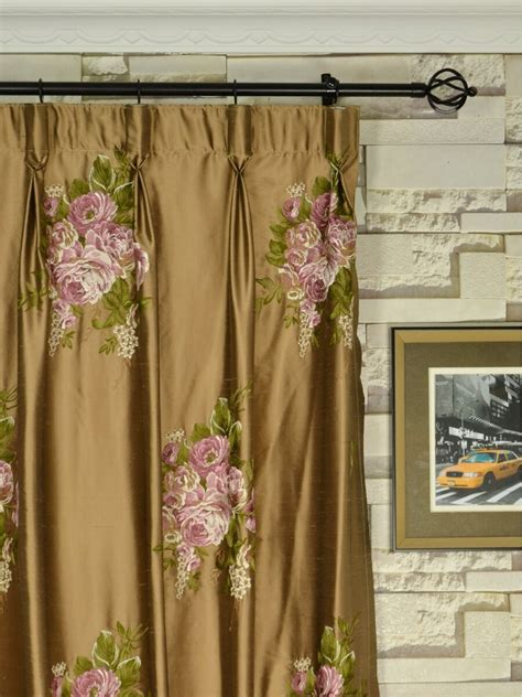 curtains and draperies rainbow embroidered camellia dupioni custom made curtains