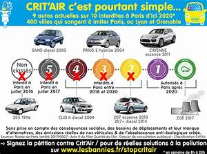 Crit Air Paris Zone : attention la vignette crit 39 air devient obligatoire ~ Medecine-chirurgie-esthetiques.com Avis de Voitures