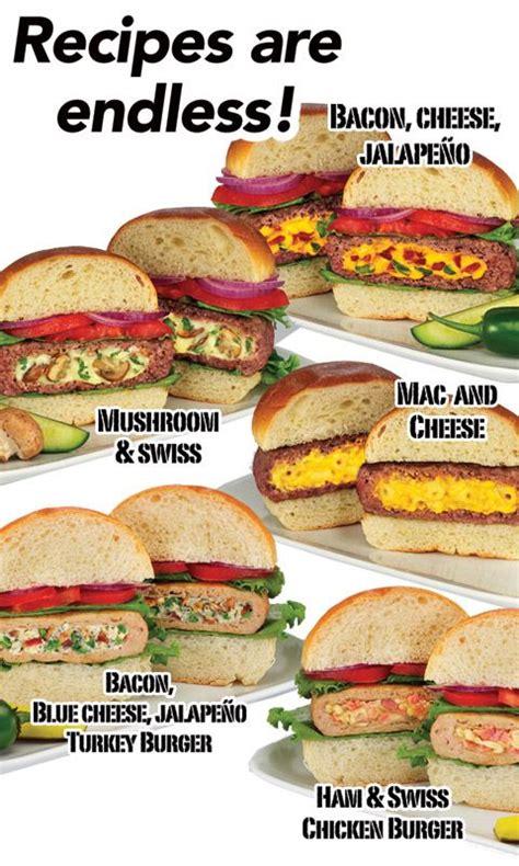 stufz stuffed burger maker the official asseenontv com