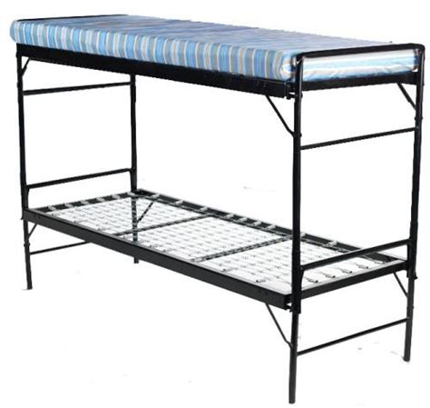 blantex army style bunk bed set iron construction