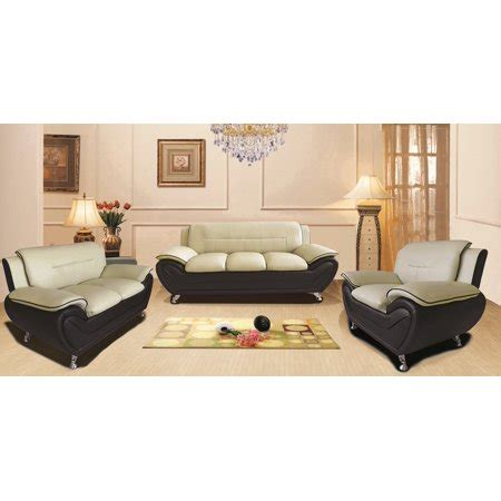 Walmart Furniture Living Room by Us Pride Furniture Timmy Faux Leather 3 Living Room