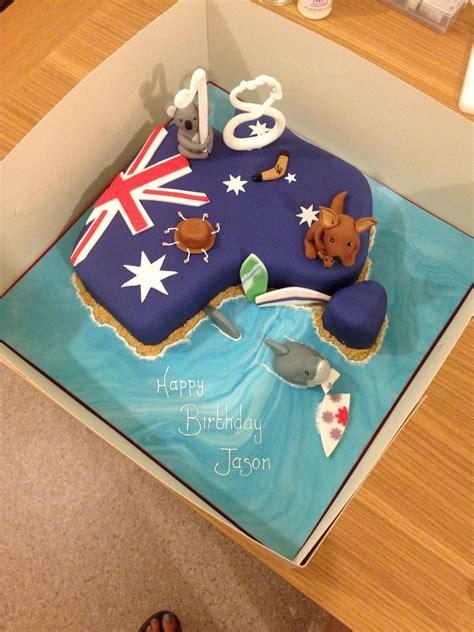 australia themed  birthday cake cakes