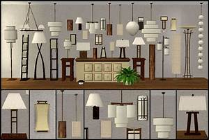33 lamps seven different lamp collections ts2 objects for Sims 2 floor lamp
