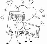 Peanut Butter Coloring Chocolate Getdrawings sketch template