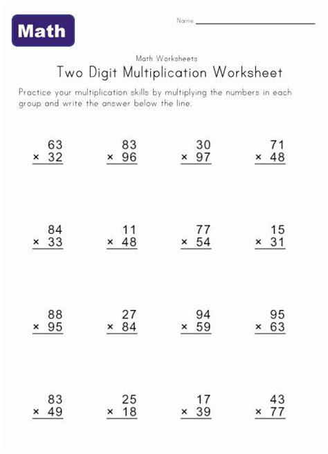 two digit multiplication worksheet 2 homeschool math pinterest multiplication worksheets