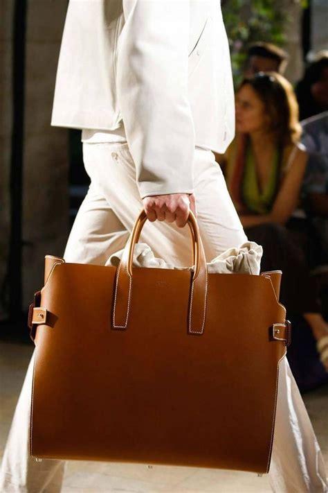 hermes runway leather cognac mens carryall duffle travel weekender tote bag  stdibs