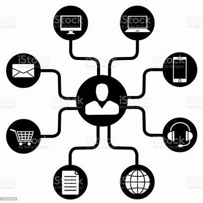 Channel Omni Marketing Technology Multi Clip Icon
