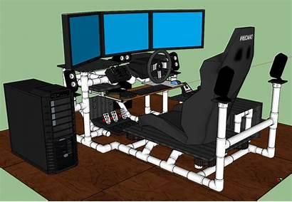 Sim Gaming Rig Racing Desk Diy Simulator