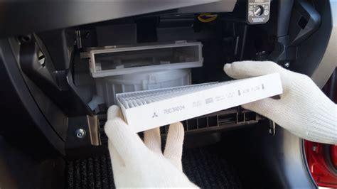 mitsubishi lancer cabin filter replacement youtube