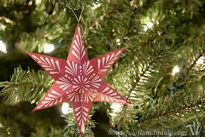 Free Printable 3D Snowflake Star Ornaments Houseful Of