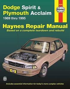 Dodge Spirit  U0026 Plymouth Acclaim  89