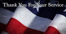 Veterans: Thank You For Your Service