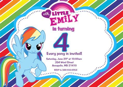 pony personalized birthday invitations