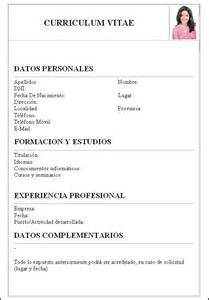 Formato De Curriculum Vitae Con Foto Word Best Resume Pdf Download