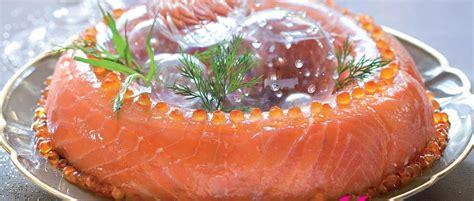 aspic cuisine recette aspic de saumon fumé au crabe