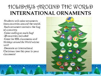 holidays around the world christmas ornaments tpt