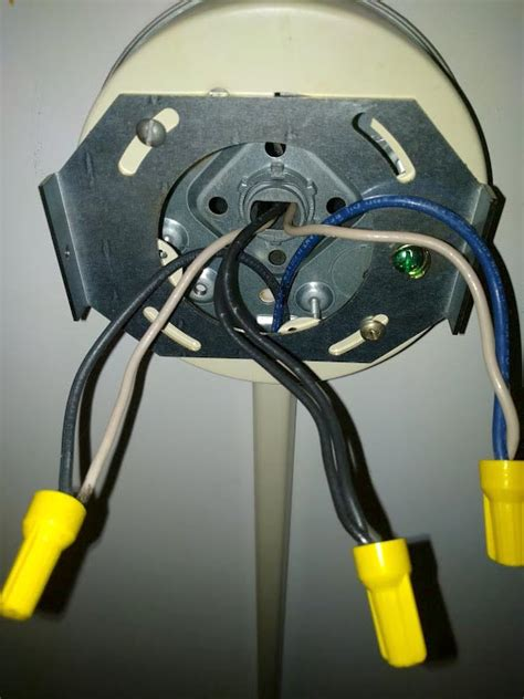 Electrical Ceiling Junction Box Has Wires Home
