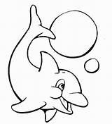Golfinhos Colorir Desenhos sketch template