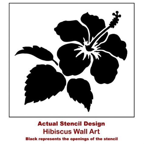 nautical wall hibiscus flower stencil floral stencil designs flower