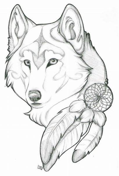 Easy Wolf Drawing Draw Things Drawings Anime