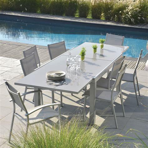 Table Salon De Jardin Table Extensible Rectangulaire Tables De Jardin Tables Chaises Bancs Mobilier