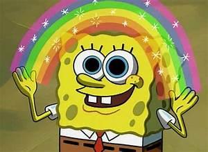draw, imagination, lsd, rainbow, spongebob - image #121857 ...