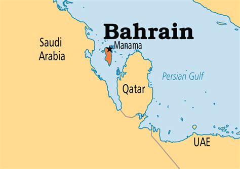 Bahrain is an island in the Persian Gulf off the coast of ...