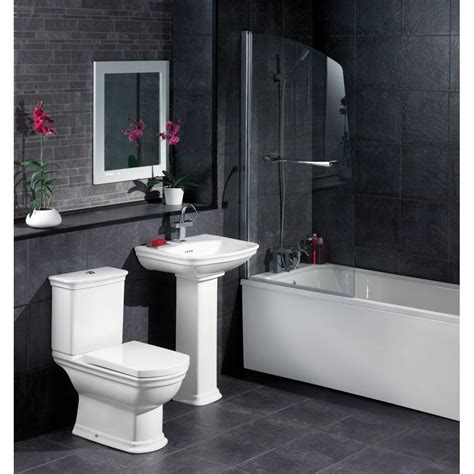 Black And White Tile Bathroom Ideas by Black And White Bathroom Design Inspirational Black Tile