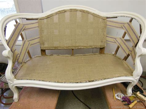Reupholster Settee by How To Add Webbing To Furniture Upholstery In 2019