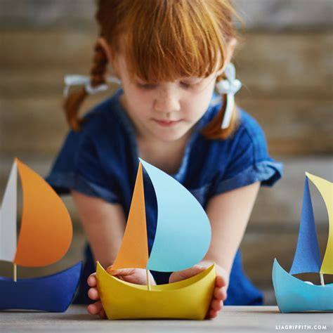 How To Make A Paper Boat Mini by Diy Paper Boat Lia Griffith