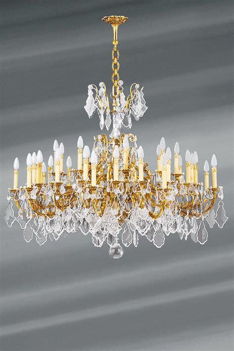 lustre bronze dor 233 et cristal louis xv 36 lumi 232 res lucien gau luminaires classiques de