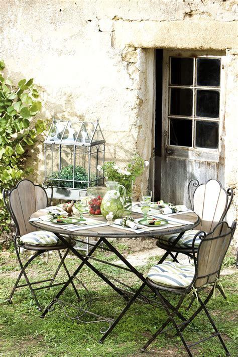 table de cuisine en fer forgé stunning salon de jardin bois fer pictures awesome