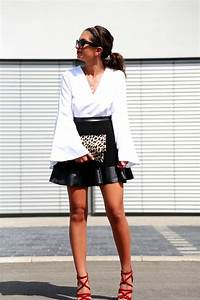 Outfit Blackwhitered and a touch of leo   FashionHippieLoves   Bloglovinu2019