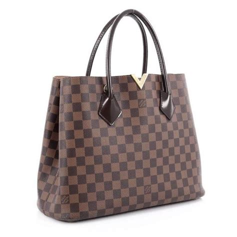 louis vuitton kensington handbag damier  stdibs