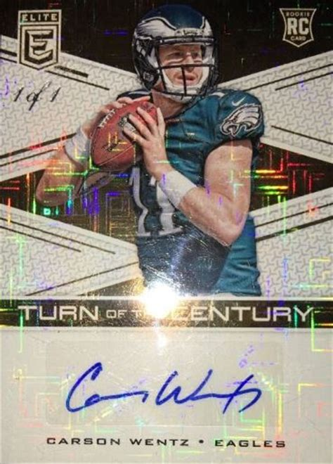 future  carson wentz rookie football cards eagles