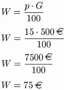 1 Prozent Regelung Berechnen : prozentwert berechnen formel und definition ~ Themetempest.com Abrechnung