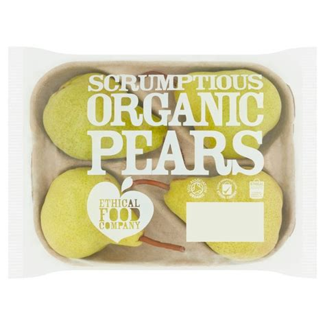 Ethical Food Company Organic Pears 4 per pack from Ocado