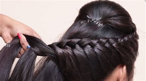 Easy Braided Hairstyle For Wedding/party || Hairstyles For