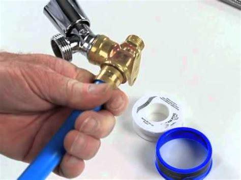 installer  robinet pour machine  laver sur une