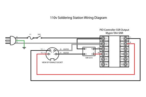 110v Wiring Diagram by Diy 110v Temperature Controlled Soldering Station Pcb Smoke