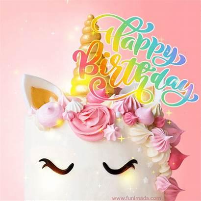 Birthday Unicorn Happy Cake Topper Rainbow Sparkles