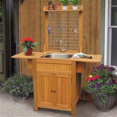 Outdoor Sink Cabinet  ッ Standskid Fun {lemonade