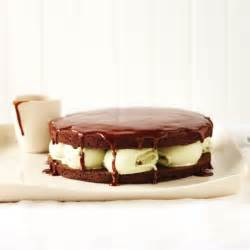 Chocolate and Pistachio Ice Cream Cake with Hot Chocolate ...