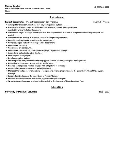 20800 project coordinator resume project coordinator resume sle velvet
