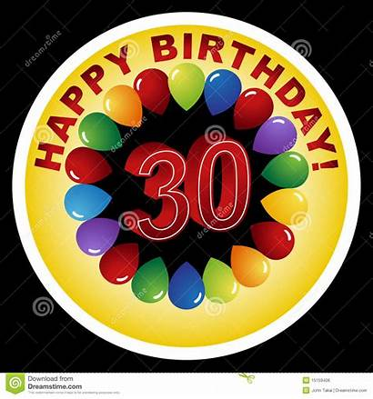30th Birthday Happy Vector
