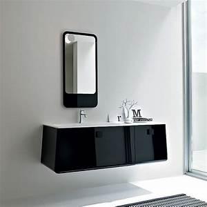 Meuble De Salle De Bain Haut De Gamme : meuble haut salle de bain noir ~ Melissatoandfro.com Idées de Décoration