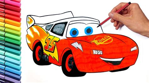 Coloring Pages Lightning McQueen Cars 3 Disney learning